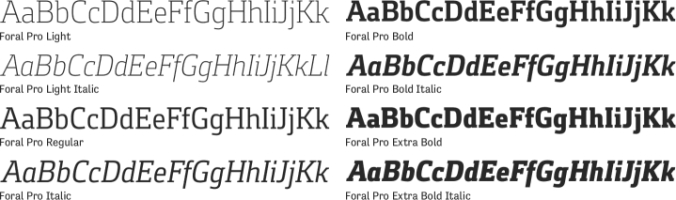 Foral Pro Font Preview