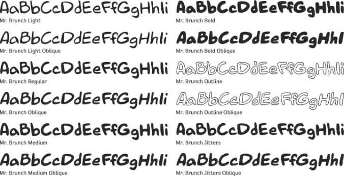 Mr. Brunch Font Preview