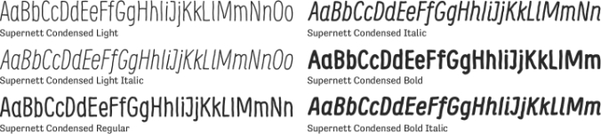 Supernett Font Preview