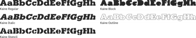 Kaine Font Preview