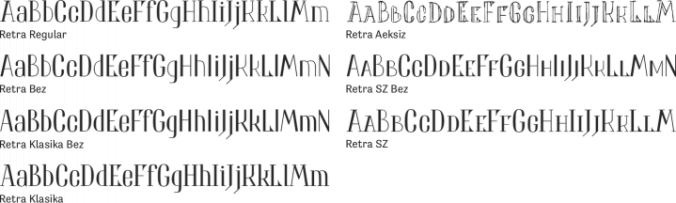 Retra Font Preview