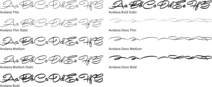 Avelana Font Preview