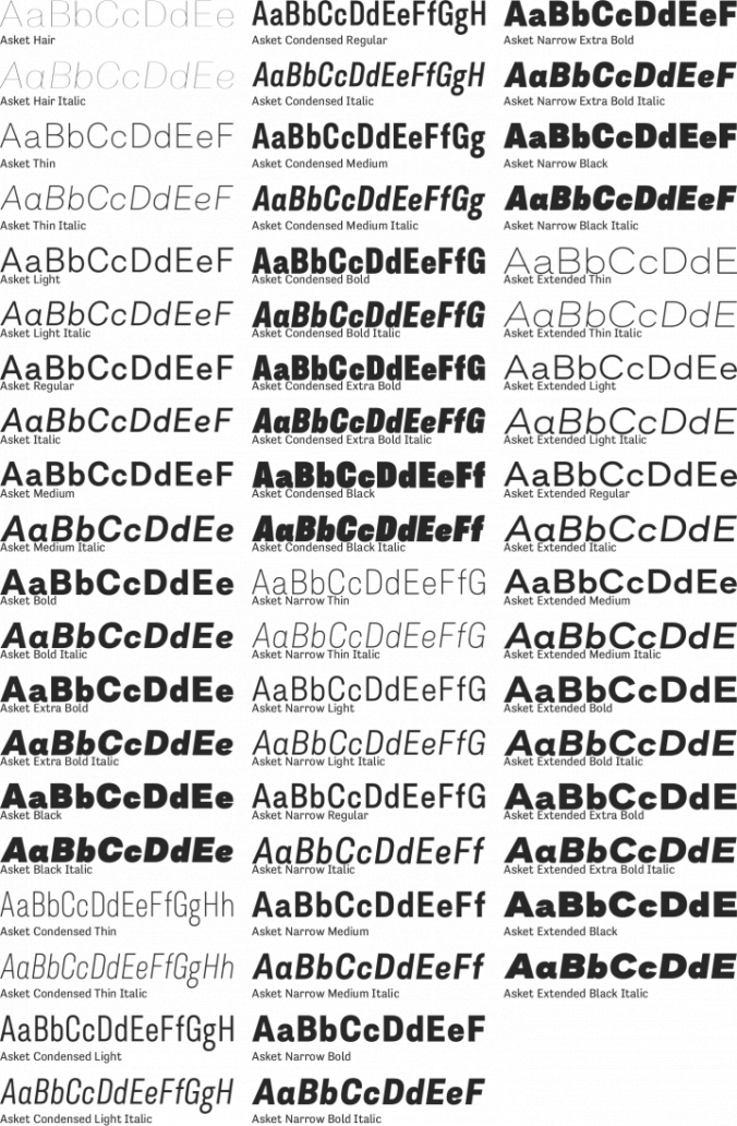 Asket Font Preview