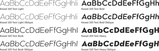 Kessel 105 Text Font Preview
