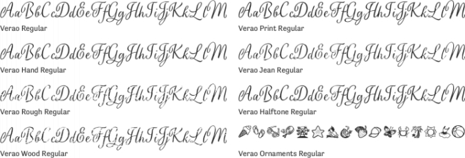 Verao Font Preview