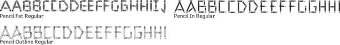 Pencil Font Preview