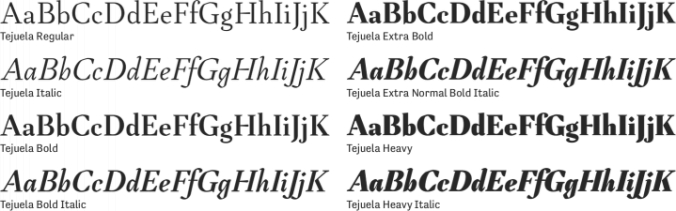 Tejuela Font Preview