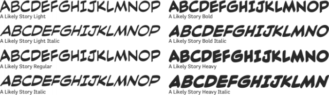 A Likely Story Font Preview