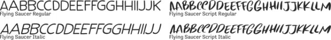 Flying Saucer Font Preview