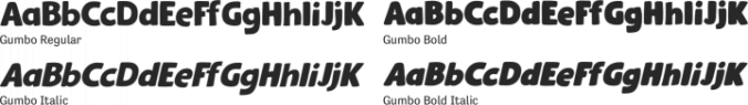 Gumbo Font Preview