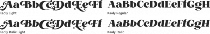 Kaoly Font Preview