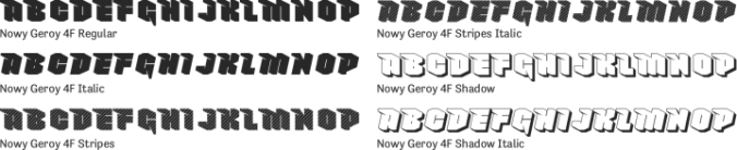 Nowy Geroy 4F Font Preview