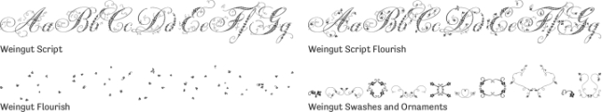Weingut Font Preview