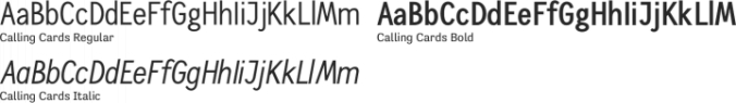Calling Cards font download