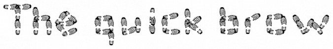 Foot Print Font Preview
