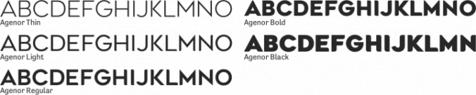 Agenor font download