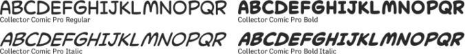 Collector Comic Pro Font Preview