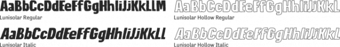 Lunisolar Font Preview