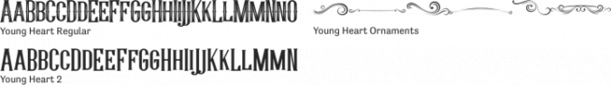Young Heart Font Preview
