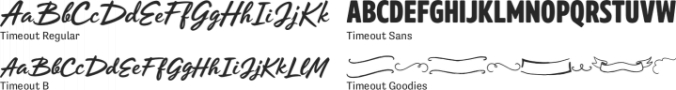 Timeout Font Preview