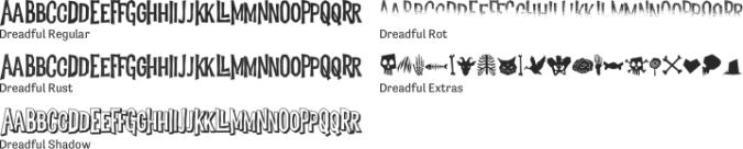 Dreadful Font Preview