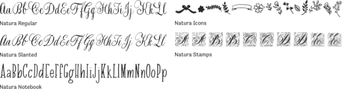 Natura Font Preview