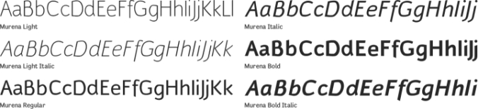 Murena Font Preview