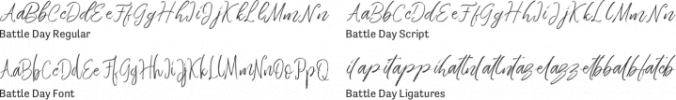 Battle Day Font Preview