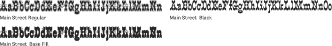 Main Street Font Preview