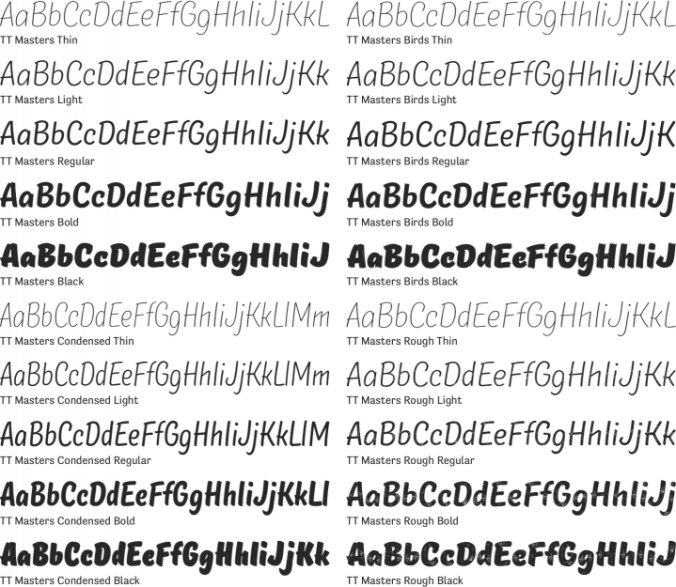 TT Masters Font Preview