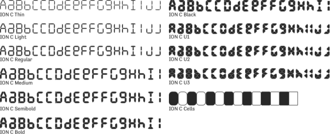 ION C Font Preview