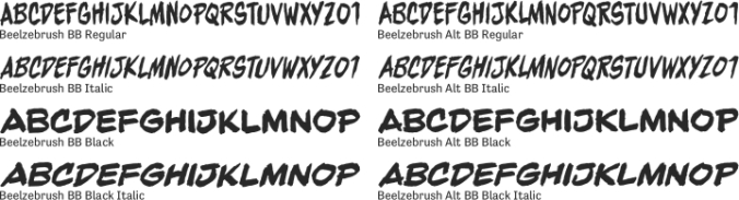 Beelzebrush BB Font Preview