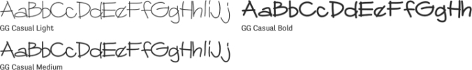 GG Casual Font Preview