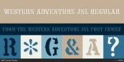 Western Adventure JNL font download