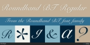 Roundhand BT font download
