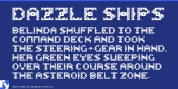 Dazzle Ships font download