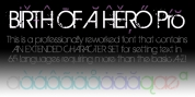 Birth Of A Hero Pro font download