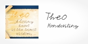 Theo Handwriting font download