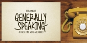 Generally Speaking font download