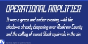 Operational Amplifier font download