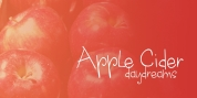 Apple Cider Daydreams font download