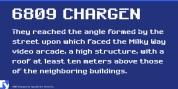 6809 Chargen font download