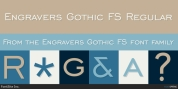 Engravers Gothic FS font download