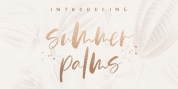 Summer Palms font download