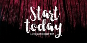 Start Today Brush Font Duo font download