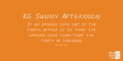 KG Sunny Afternoon font download