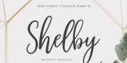 Shelby Script font download