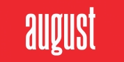 August font download
