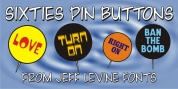 Sixties Pin Buttons JNL font download