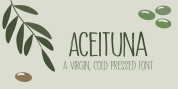 Aceituna font download